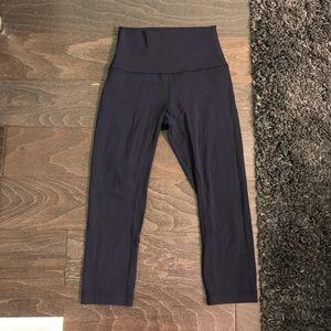 Lululemon Cropped Align Pants in Navy
